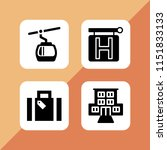 rest icon. 4 rest set with... | Shutterstock .eps vector #1151833133