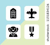 force icon. 4 force set with... | Shutterstock .eps vector #1151834126