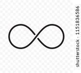 infinity logo or infinite loop... | Shutterstock .eps vector #1151836586