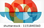 modern circle abstract... | Shutterstock .eps vector #1151840360
