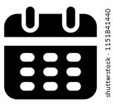 a scheduling tool  timetable... | Shutterstock .eps vector #1151841440