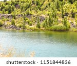 beautiful trees on a dry stony... | Shutterstock . vector #1151844836