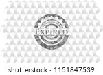 expired grey emblem with... | Shutterstock .eps vector #1151847539