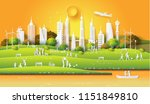 concept of eco friendly and... | Shutterstock .eps vector #1151849810