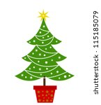 christmas tree. vector... | Shutterstock .eps vector #115185079