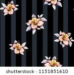 vector flowers pattern on... | Shutterstock .eps vector #1151851610