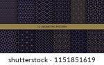 vector geometric seamless... | Shutterstock .eps vector #1151851619
