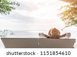relaxation holiday vacation of... | Shutterstock . vector #1151854610