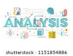 analysis word lettering... | Shutterstock .eps vector #1151854886