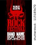 rock festival design template... | Shutterstock .eps vector #115185670