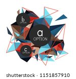 vector triangle abstract... | Shutterstock .eps vector #1151857910