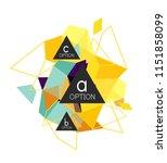 triangle infographics design... | Shutterstock .eps vector #1151858099