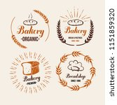 bakery and bread shop logos ... | Shutterstock .eps vector #1151859320