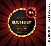black friday special offer on...   Shutterstock . vector #1151862716