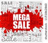 mega sale word cloud collage ... | Shutterstock .eps vector #1151862860