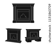 different kinds of fireplaces...   Shutterstock .eps vector #1151863709