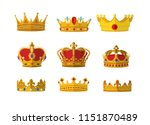 set of gold crown icon with...   Shutterstock .eps vector #1151870489