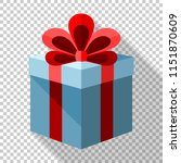 gift box icon with red bow in... | Shutterstock .eps vector #1151870609