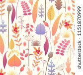 seamless pattern made with... | Shutterstock .eps vector #1151870999