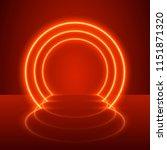 Neon Show Light Podium Red...