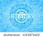 urgency light blue emblem with... | Shutterstock .eps vector #1151871623