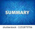 summary isolated on blue... | Shutterstock . vector #1151875706
