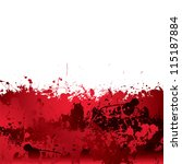 red blood splatter background... | Shutterstock .eps vector #115187884