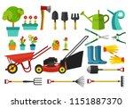 vector illustration of garden...   Shutterstock .eps vector #1151887370