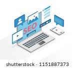 flat design isometric concept... | Shutterstock .eps vector #1151887373