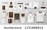 mockup set for coffee shop ... | Shutterstock .eps vector #1151888816