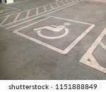 Parking space for disabled in...