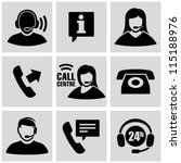 call center icons set | Shutterstock .eps vector #115188976