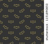 seamless pattern with bats.... | Shutterstock .eps vector #1151890853