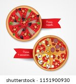 pizza four seasons and... | Shutterstock .eps vector #1151900930