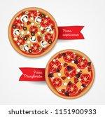 pizzeria menu concept. vector... | Shutterstock .eps vector #1151900933