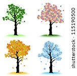 art tree for your design. four... | Shutterstock .eps vector #115190500