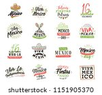 viva mexico. mexico... | Shutterstock .eps vector #1151905370