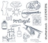 portugal. set of portuguese... | Shutterstock .eps vector #1151909396