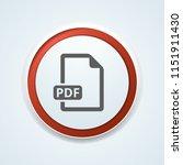 pdf download button illustration | Shutterstock .eps vector #1151911430
