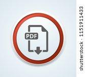pdf download button illustration | Shutterstock .eps vector #1151911433