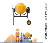 concrete mixer  vector... | Shutterstock .eps vector #1151912810