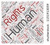 vector conceptual human rights... | Shutterstock .eps vector #1151913059