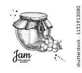 sea buckthorn jam glass jar... | Shutterstock .eps vector #1151913080