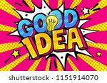 concept of idea. message good... | Shutterstock .eps vector #1151914070