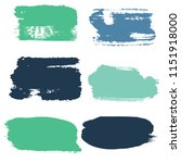 brush strokes vector set... | Shutterstock .eps vector #1151918000