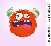 angry cartoon monster. angry... | Shutterstock .eps vector #1151920253