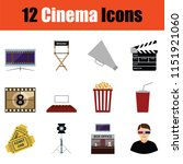 cinema icon set. color  design. ...   Shutterstock .eps vector #1151921060