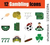 gambling icon set. color ... | Shutterstock .eps vector #1151921096