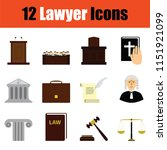 lawyer icon set. color  design. ... | Shutterstock .eps vector #1151921099