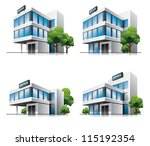 four office vector house... | Shutterstock .eps vector #115192354